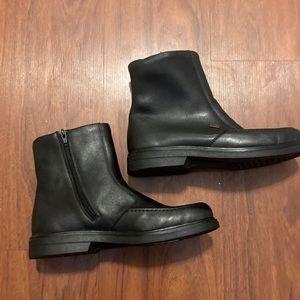 Rieker Tex men's black side zip lined leather boot